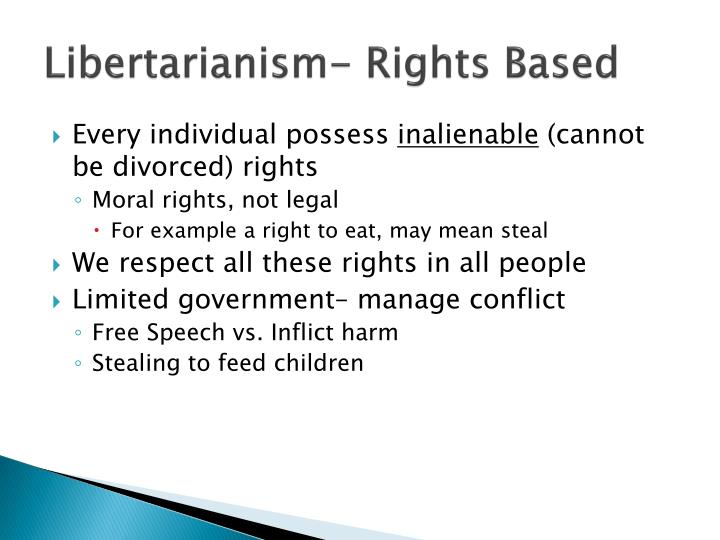 Libertarianism- Rights Based