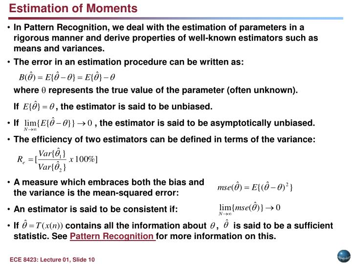 Estimation of Moments