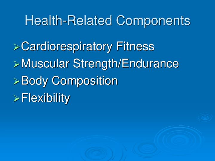Health related components