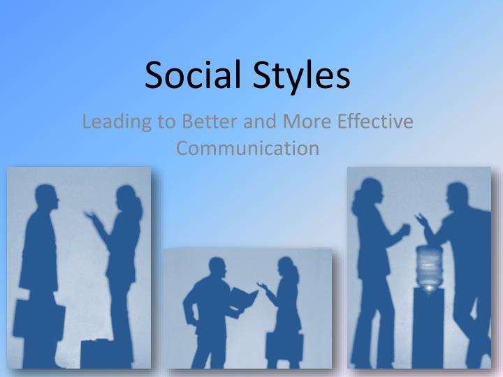 PPT - Social Styles PowerPoint Presentation - ID:2671367