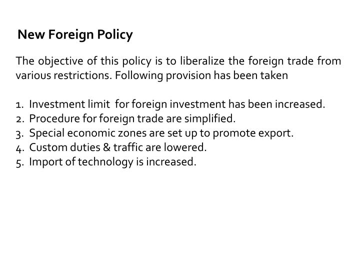 New Foreign Policy