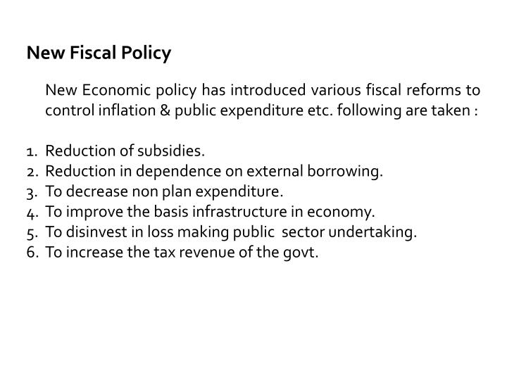 New Fiscal Policy