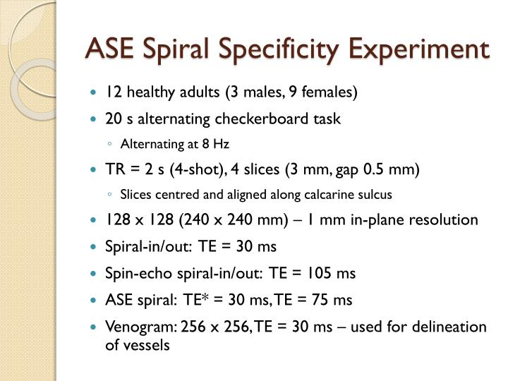 ASE Spiral Specificity Experiment