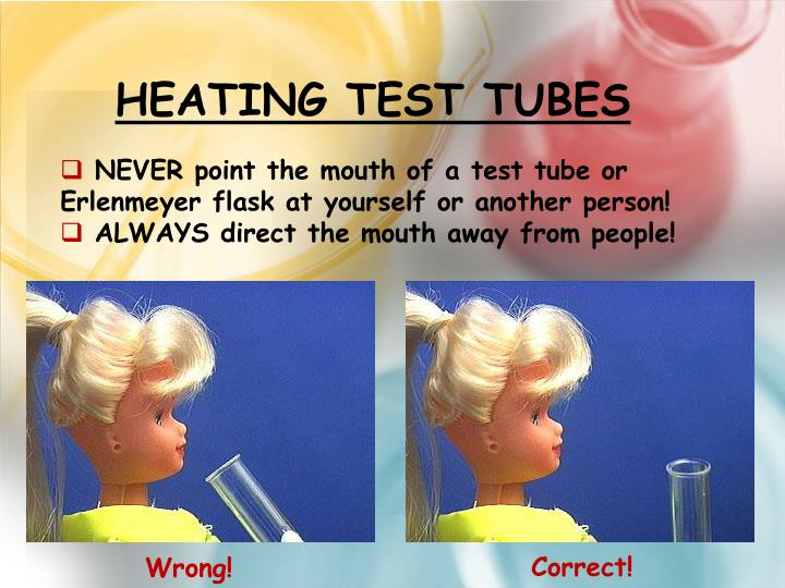 Heating Test Tubes