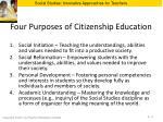four purposes of citizenship education
