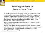 teaching students to demonstrate care
