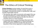 the ethics of critical thinking