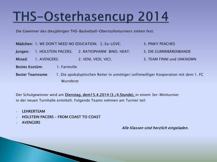 Ths osterhasencup 2014