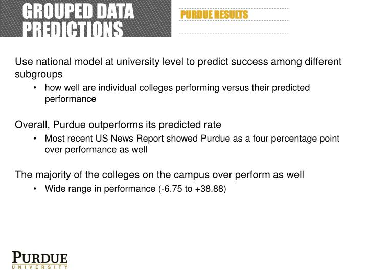Grouped data predictions