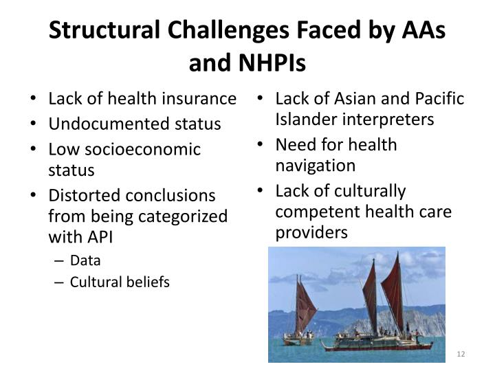 Structural Challenges Faced by AAs and NHPIs