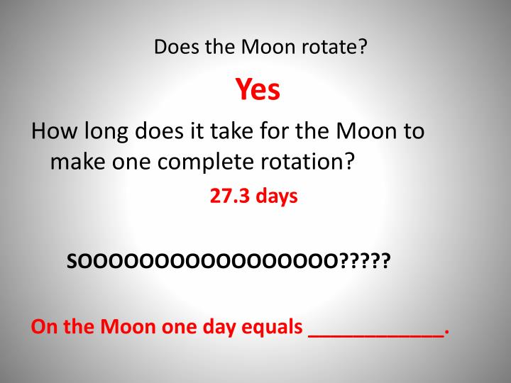 Does the Moon rotate?