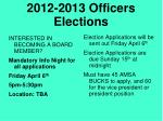 2012 2013 officers elections