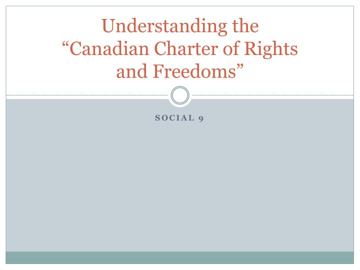understanding the canadian charter of rights and freedoms n.
