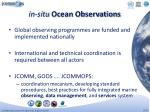 in situ ocean observations