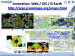 innovation web gis g earth http argo jcommops org maps html
