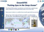 oceansites putting eyes in the deep ocean