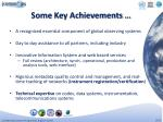 some key achievements