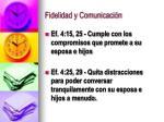 fidelidad y comunicaci n