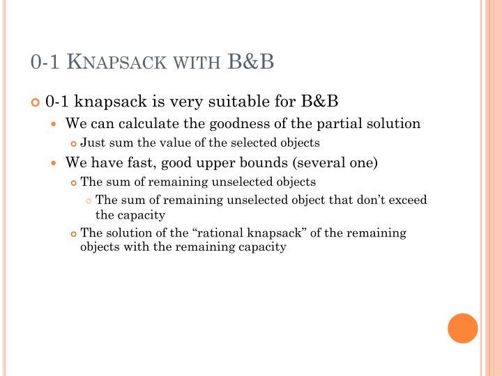 0-1 Knapsack with B&B