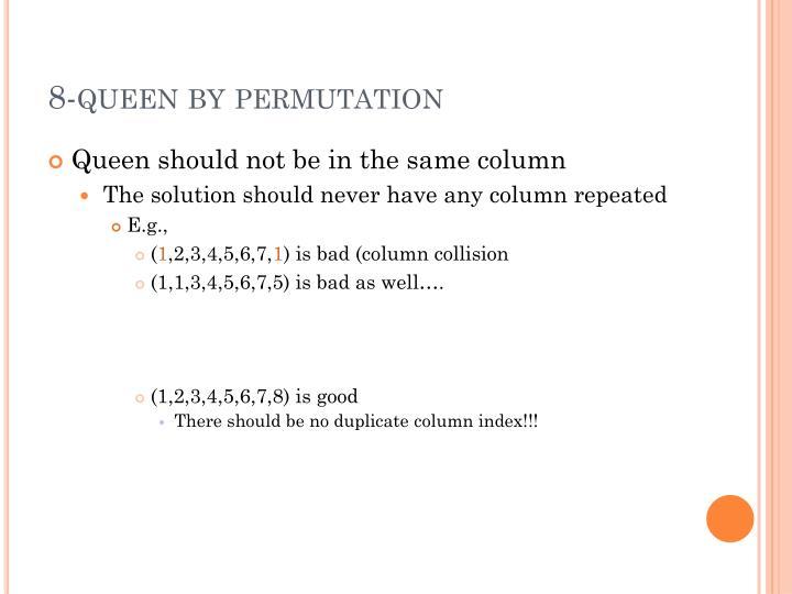 8-queen by permutation