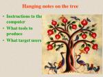 hanging notes on the tree