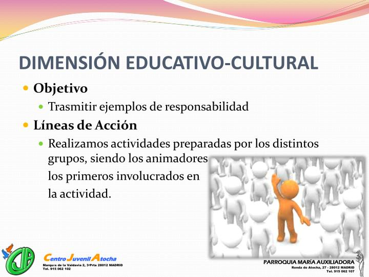 DIMENSIÓN EDUCATIVO-CULTURAL