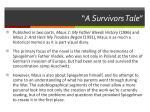 a survivors tale
