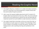 reading the graphic novel