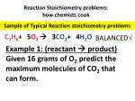 reaction stoichiometry problems how chemists cook1