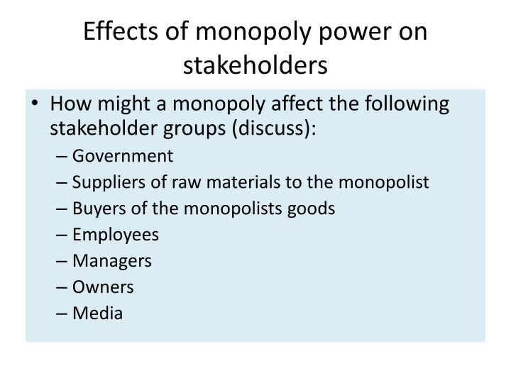 the effect of monopolies on resource allocation in industry Resources are the means to achieve certain ends one of the most important functions of the economic system is the allocation of scarce resources and commodities.