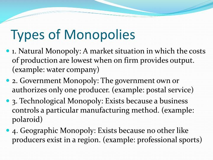 Monopolies Are Natural Free Market