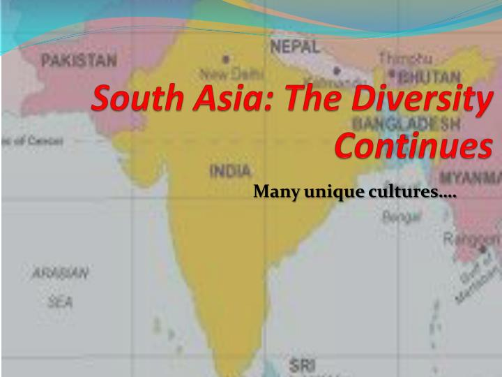 south asia the diversity continues n.