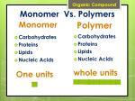 monomer vs polymers