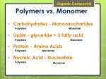 polymers vs monomer
