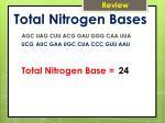 total nitrogen bases