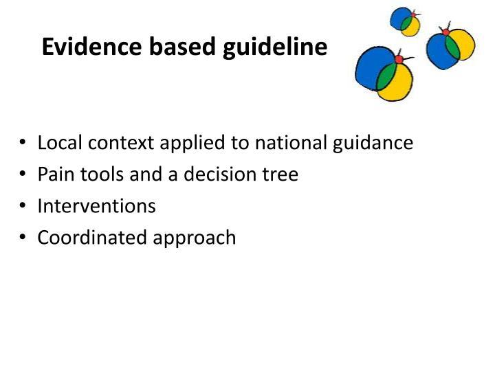 Evidence based guideline