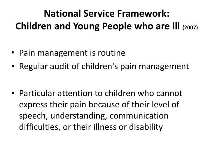 National Service Framework: