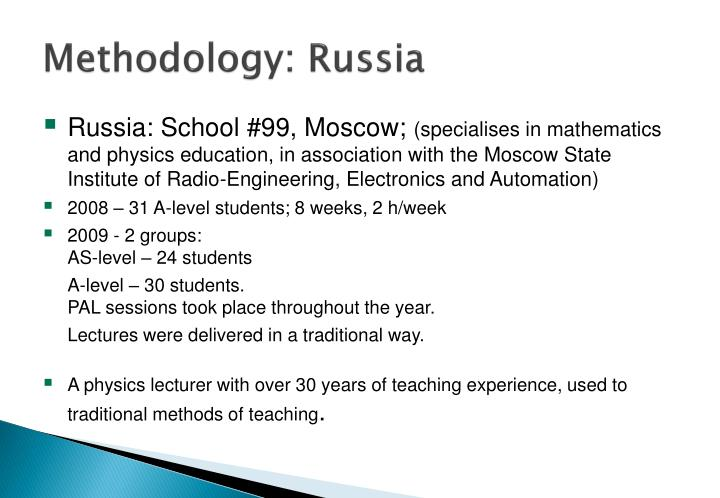 Methodology: Russia