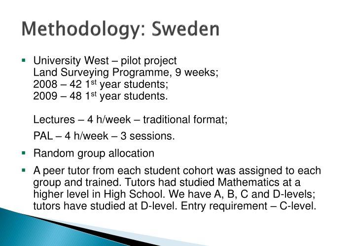 Methodology: Sweden