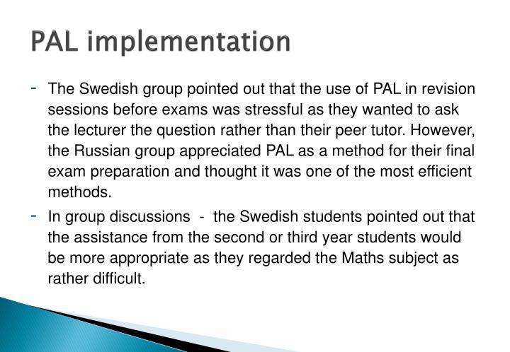 PAL implementation