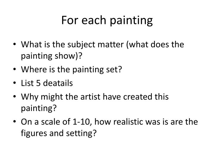 for each painting n.