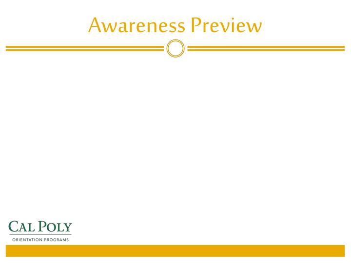 Awareness Preview