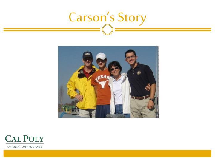 Carson s story