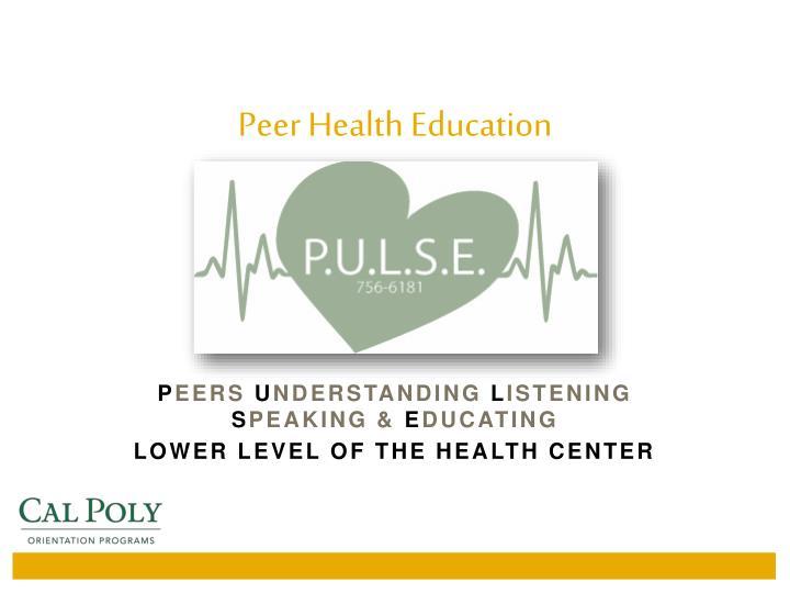 Peer Health Education