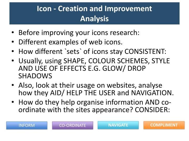 Icon - Creation and Improvement