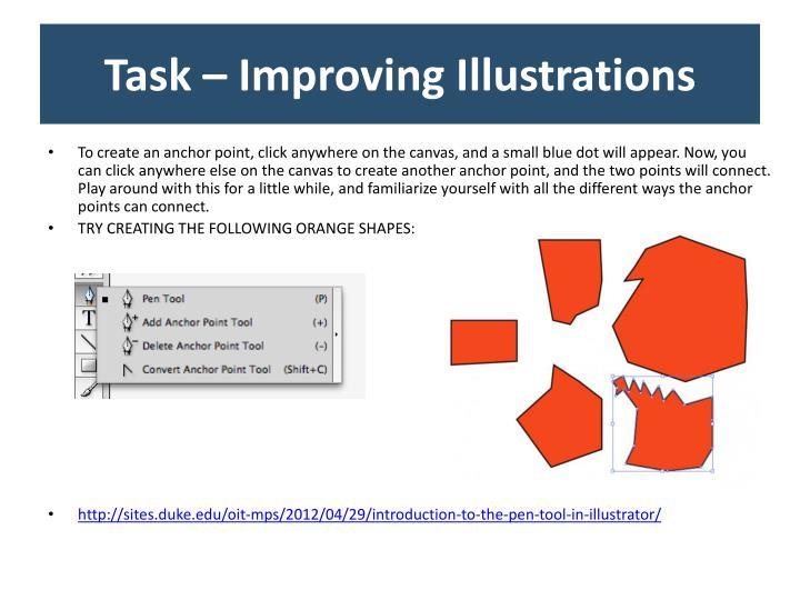 Task – Improving Illustrations
