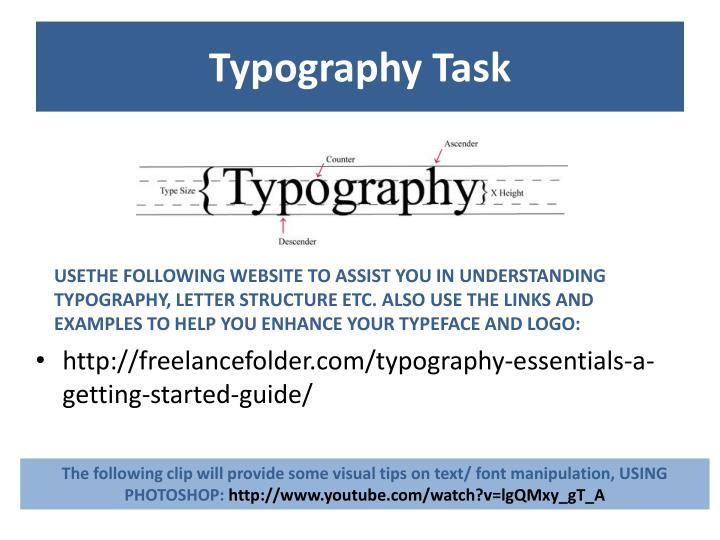 Typography Task