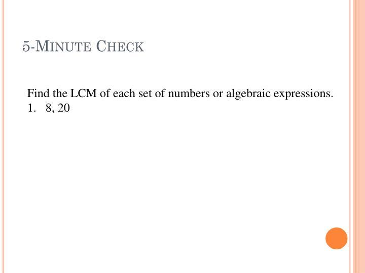 5 minute check