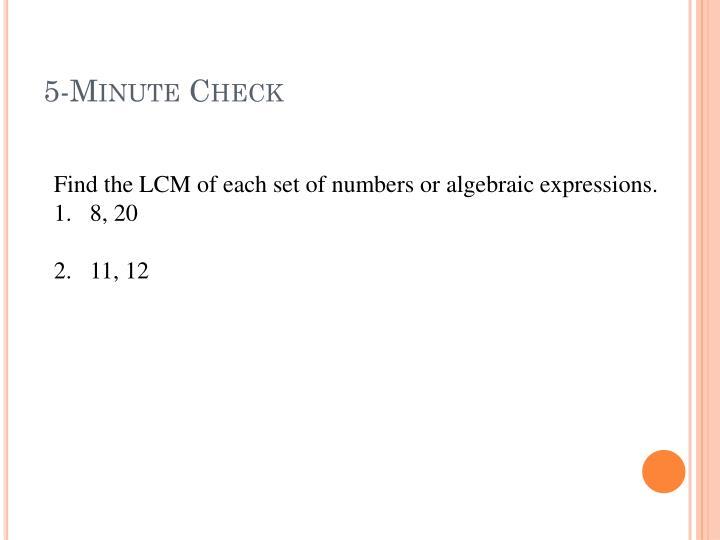 5-Minute Check