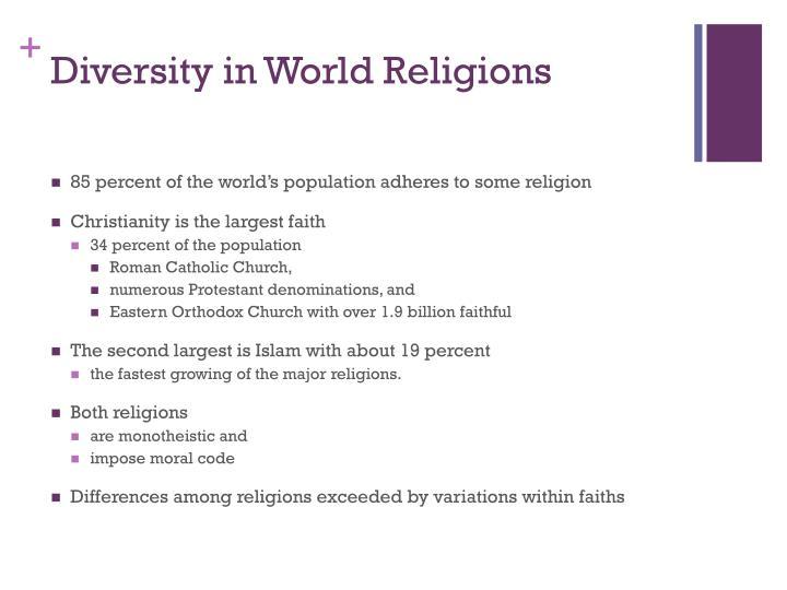 Diversity in world religions